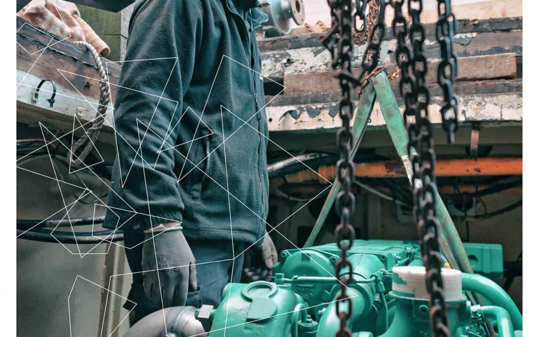 Remotorisation d'un bateau de pêche