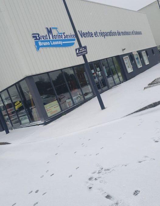 Brest sous la neige !