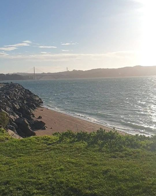 Un beau soleil sur Brest aujourd'hui mais du vent …