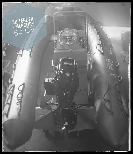 A vendre 3D Tender XPro 535 équipé d'un Mercury F5…