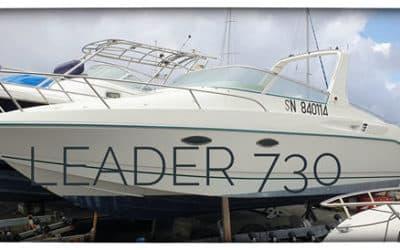 A vendre Leader 730.  Bateau familial sympathique….