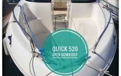 Nous avons en dépôt vente un Quicksilver 520 Open …